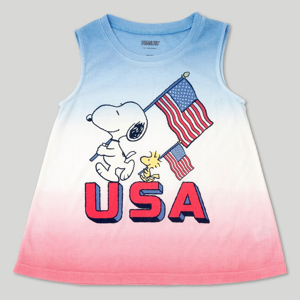 Girls Peanuts Snoopy Tank Top - M, Size: M (7-8), Multicolored