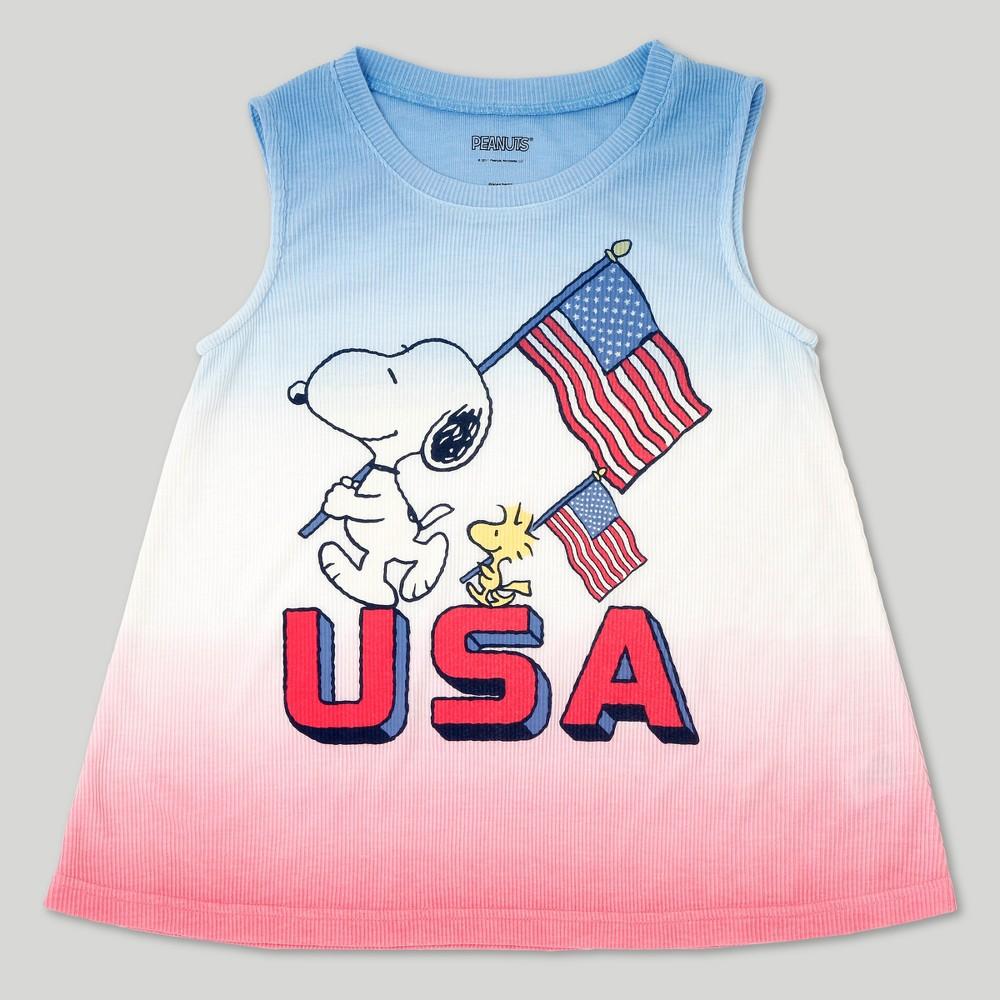 Girls Peanuts Snoopy Tank Top - L, Size: L(10-12), Multicolored