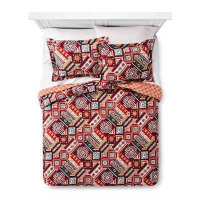 Red Anatolia Duvet Cover Set (Queen)- Mudhut™