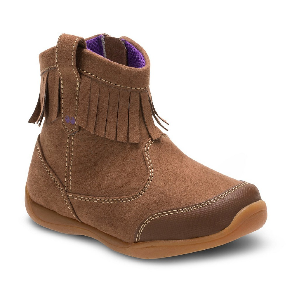 Toddler Girls Surprize by Stride Rite Clementine Fringe Ankle Fashion Boots 7 - Brown