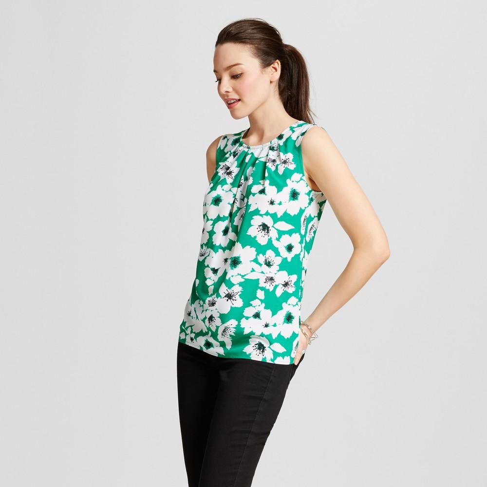 Womens Printed Shell - Merona Tumble Green L