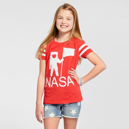Girls 39 nasa short sleeve t shirt red target for Sports shirts near me