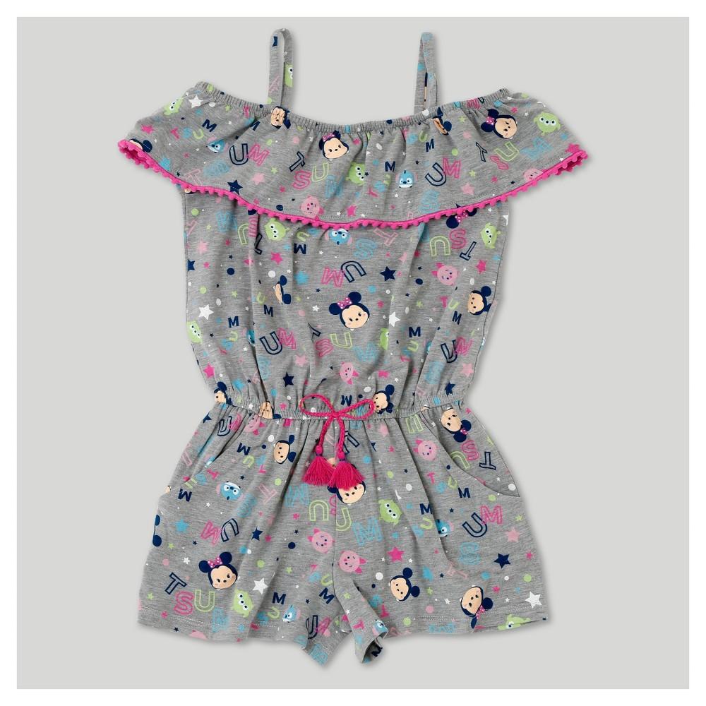 Plus Size Girls Tsum Tsum Minnie Sleeveless Rompers - Heather Gray Xxl Plus