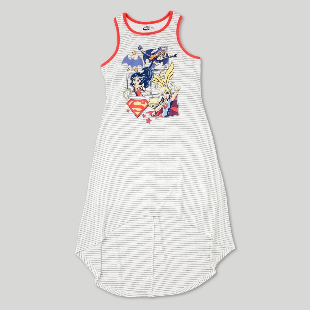 Plus Size Girls DC Super Hero Girls Maxi Dress - Heather Gray L Plus