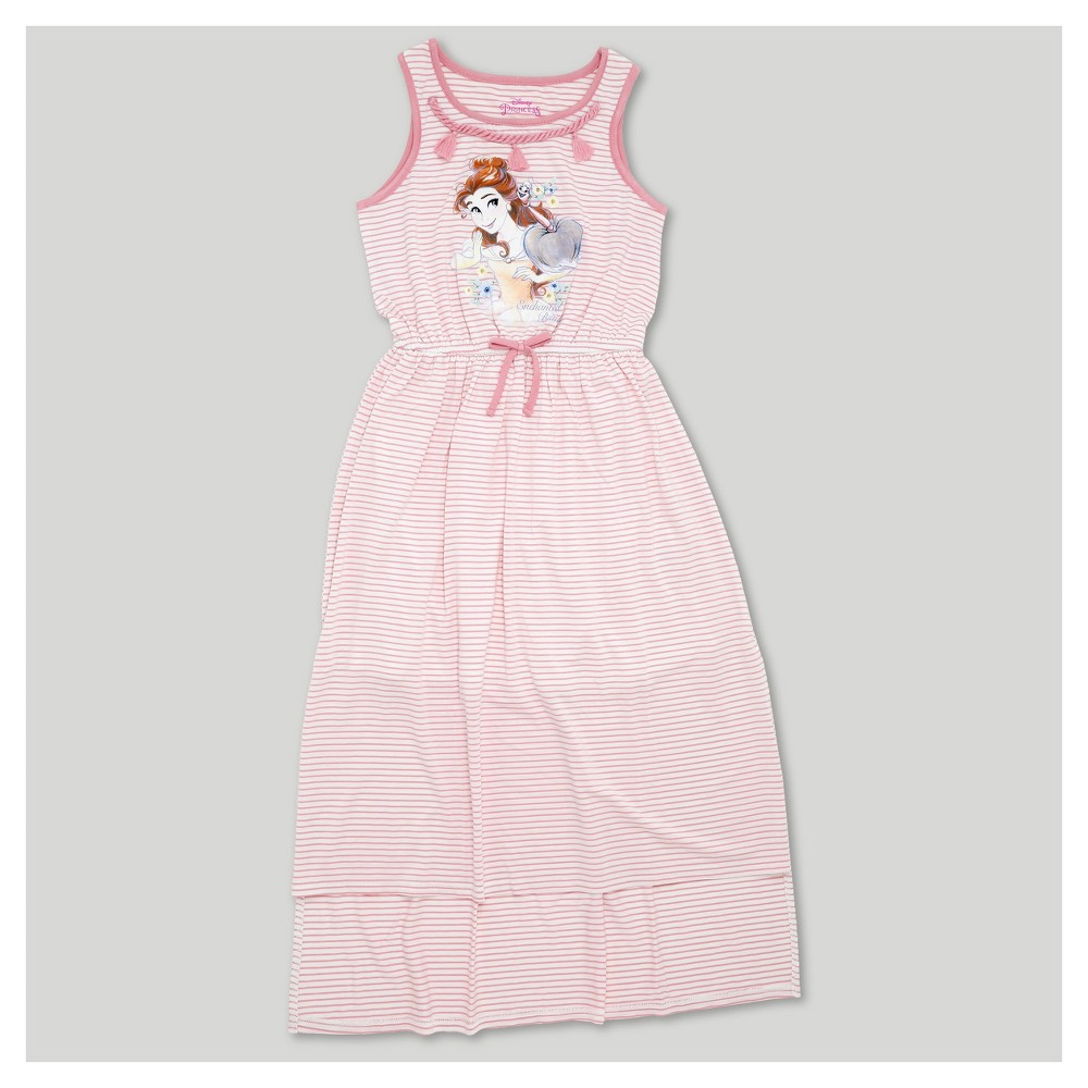 Plus Size Girls Beauty and the Beast Maxi Dress - Pink L Plus