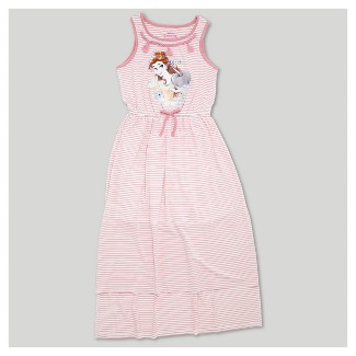 Girls' Beauty and the Beast Maxi Dress - Pink
