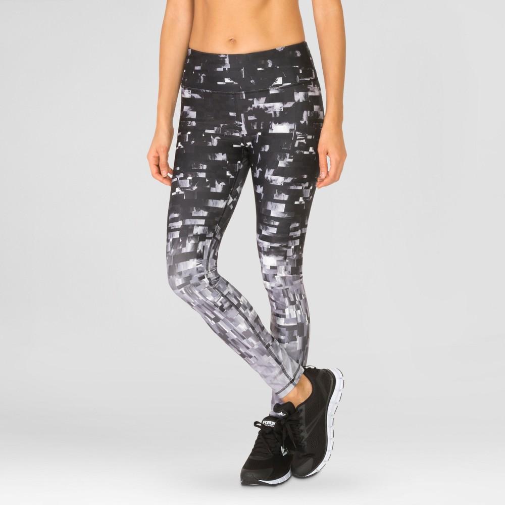 Women's Full Leggings with Tetris Print - Black XL - Rbx