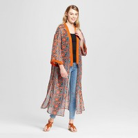 Women's Duster Kimono - Xhilaration (Juniors') Green. opens in a new tab.