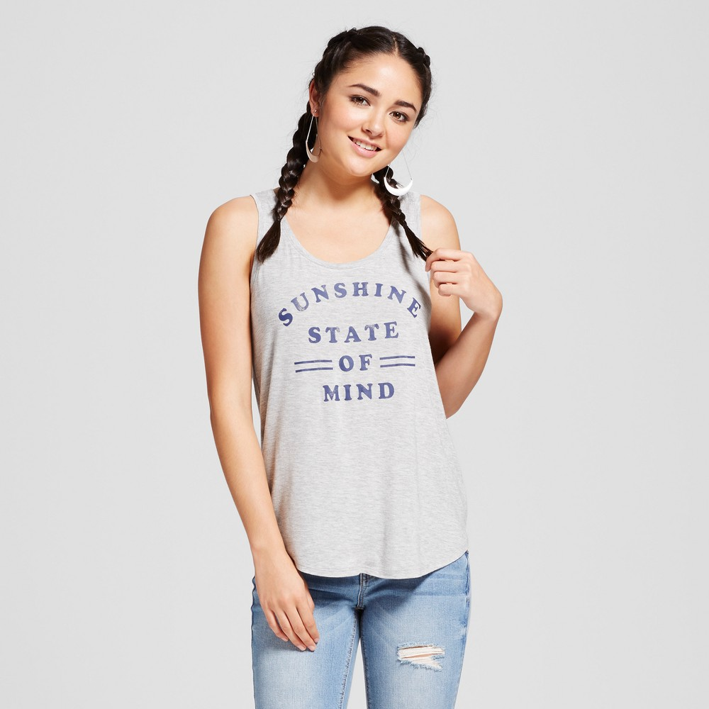 Womens Sunshine State of Mind Graphic Tank Heather Gray XS - Grayson Threads (Juniors)
