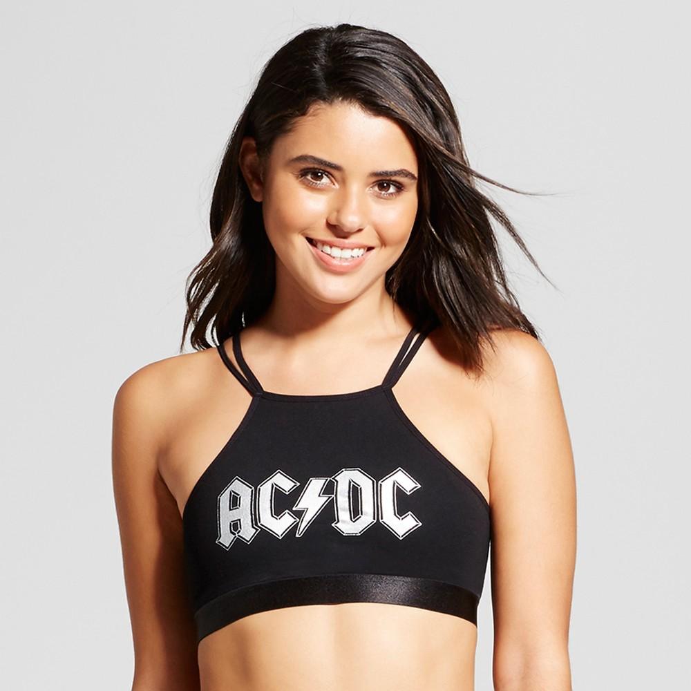 Womens AC/DC Bralette - Black S