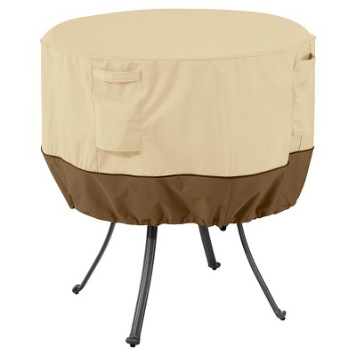 Veranda Medium Round Patio Table Cover   Light Pebble   Classic Accessories