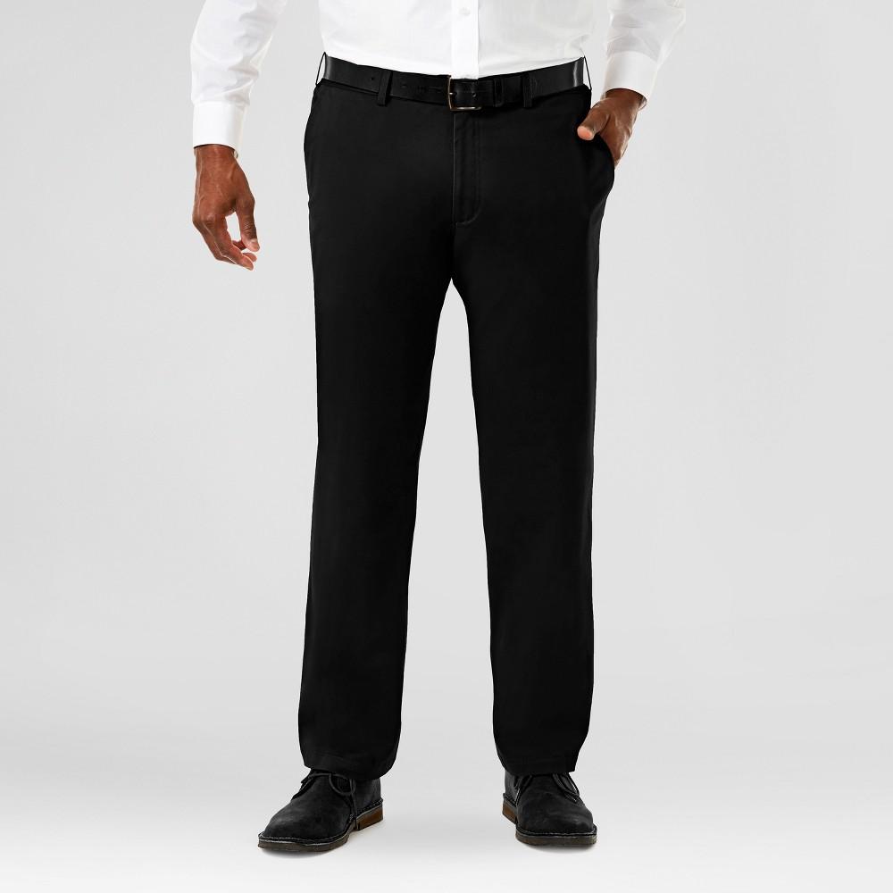 Haggar H26 Mens Big & Tall Sustainable Chino Pants Black 46x32