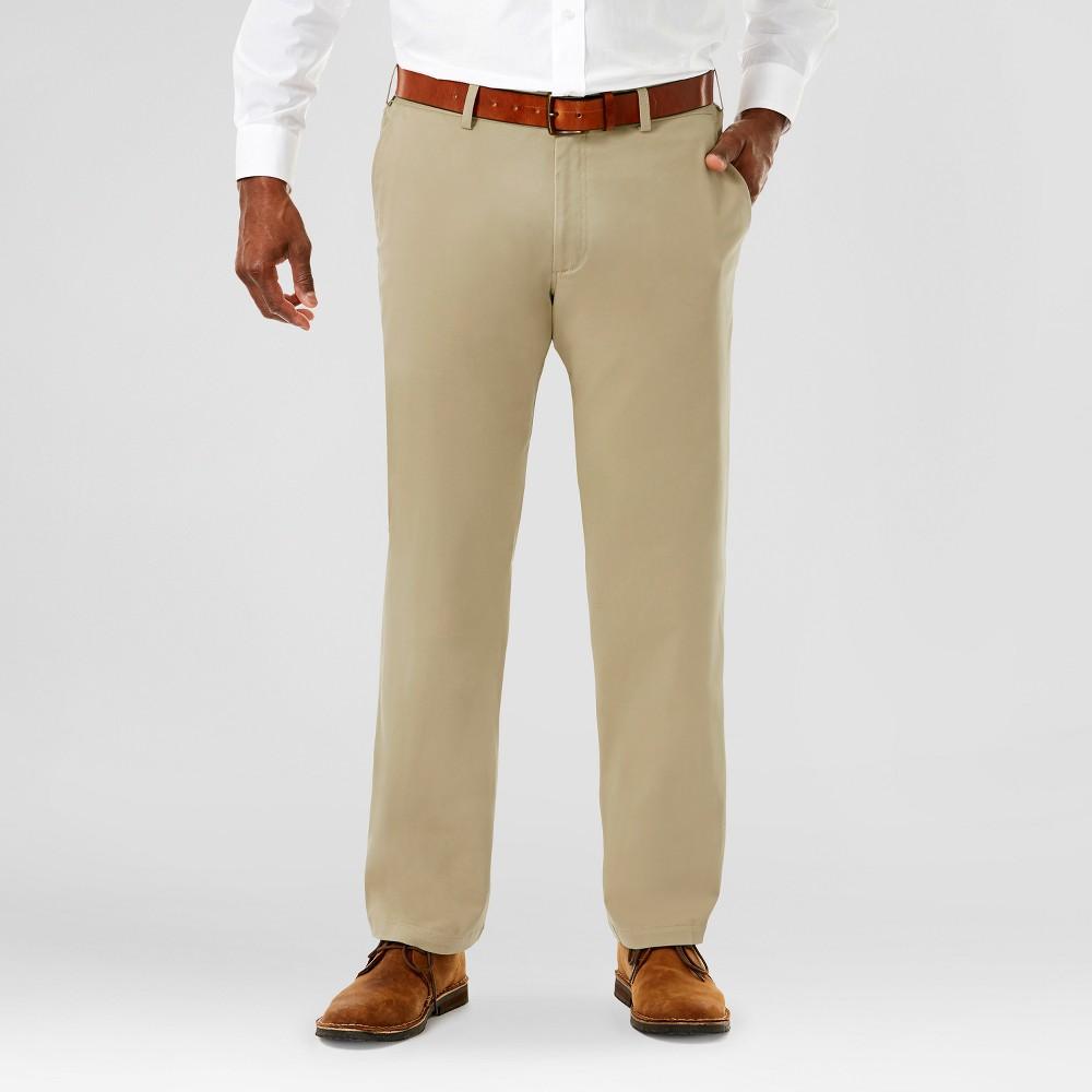 Haggar H26 Mens Big & Tall Sustainable Chino Pants Khaki (Green) 58x32