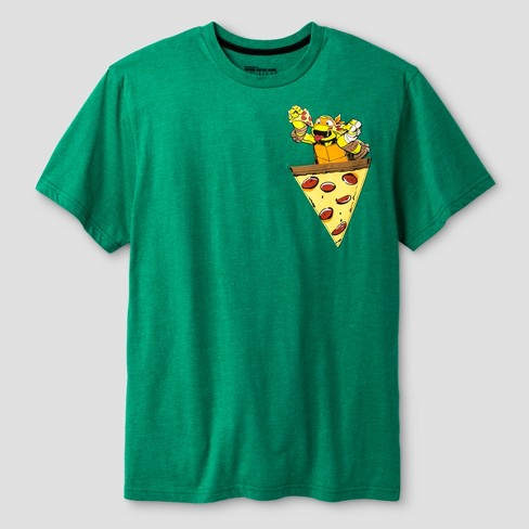 Teenage Mutant Ninja Turtles Boys' Pizza Graphic Short Sleeve T-Shirt - Kelly Green - image 1 of 1