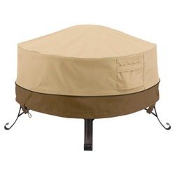 Veranda Full Coverage Fire Pit Cover - Pebble - Classic Accessories