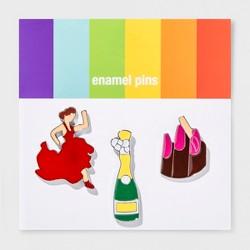 Pride Emoji Party Enamel Pin Set