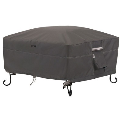 Ravenna Full Coverage Fire Pit Cover - Dark Taupe - Classic Accessories