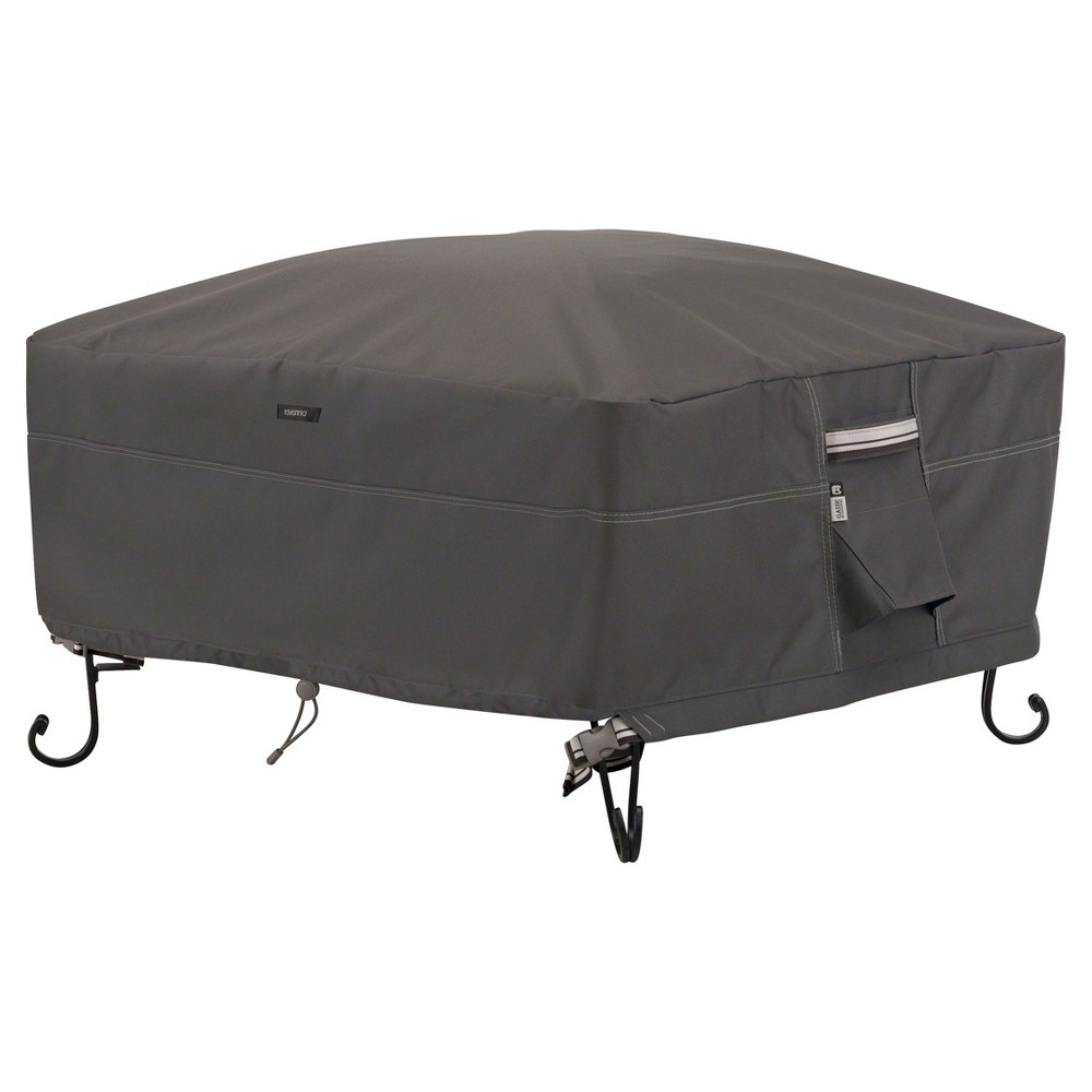 Ravenna Full Coverage Fire Pit Cover Dark Taupe Classic Accessories