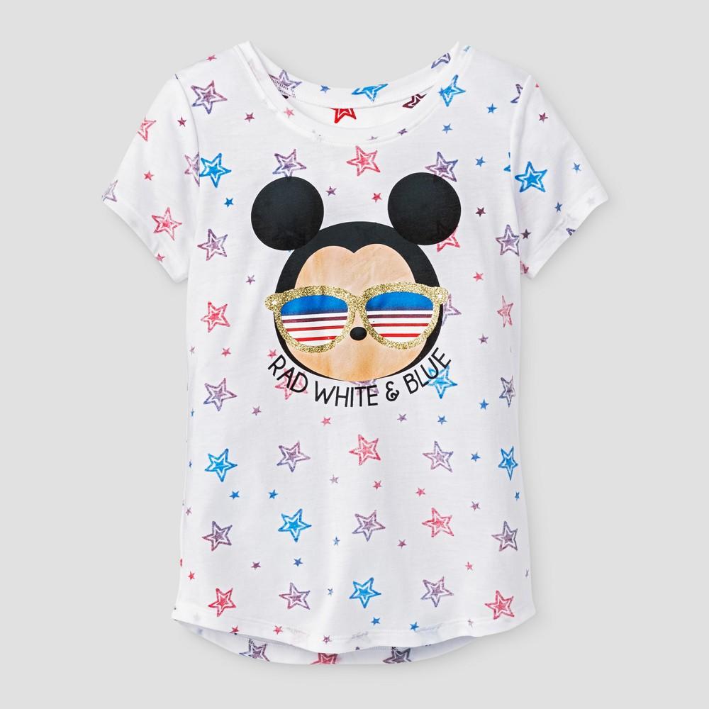 Plus Size Girls Tsum Tsum Mickey Short Sleeve T-Shirt - White L Plus