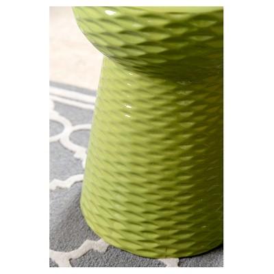 Madison Lime Green Ceramic Garden Stool   Abbyson Living