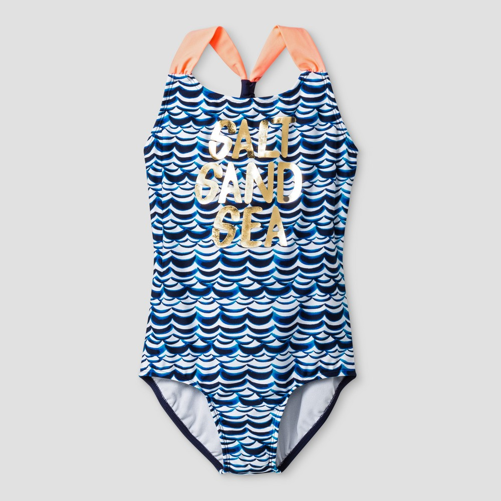 One Piece Swimsuits - Cat & Jack XL Blue, Girls