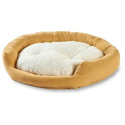 Happy Hounds Murphy Donut Dog Bed - Cream - Small