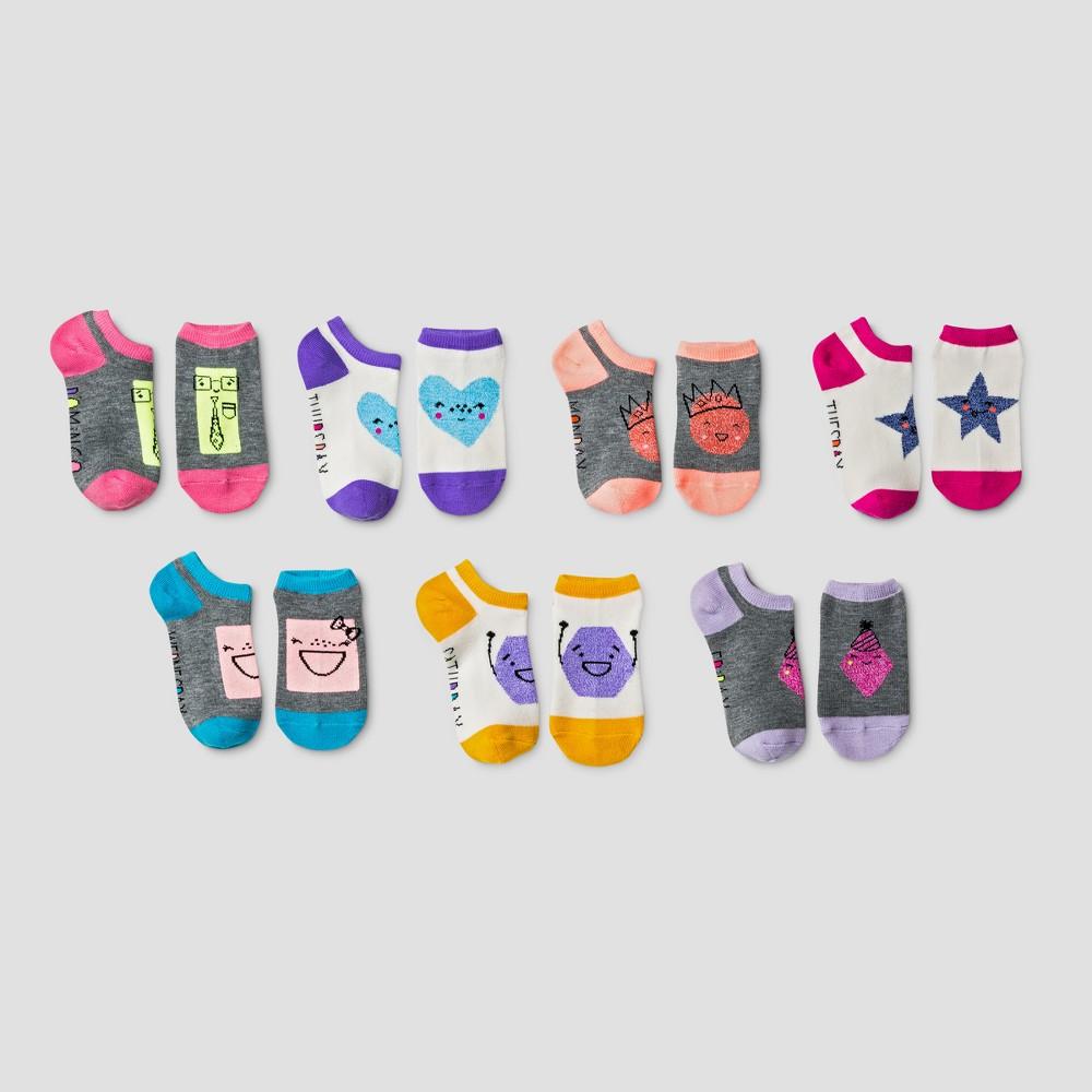 Girls No Show Socks 7pk - Cat & Jack S, Gray