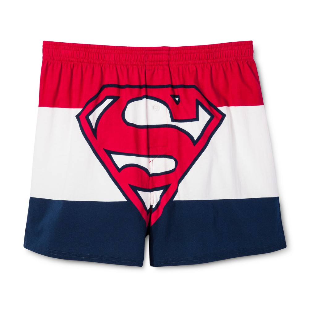 Men's Superman Boxer Shorts - Red XL