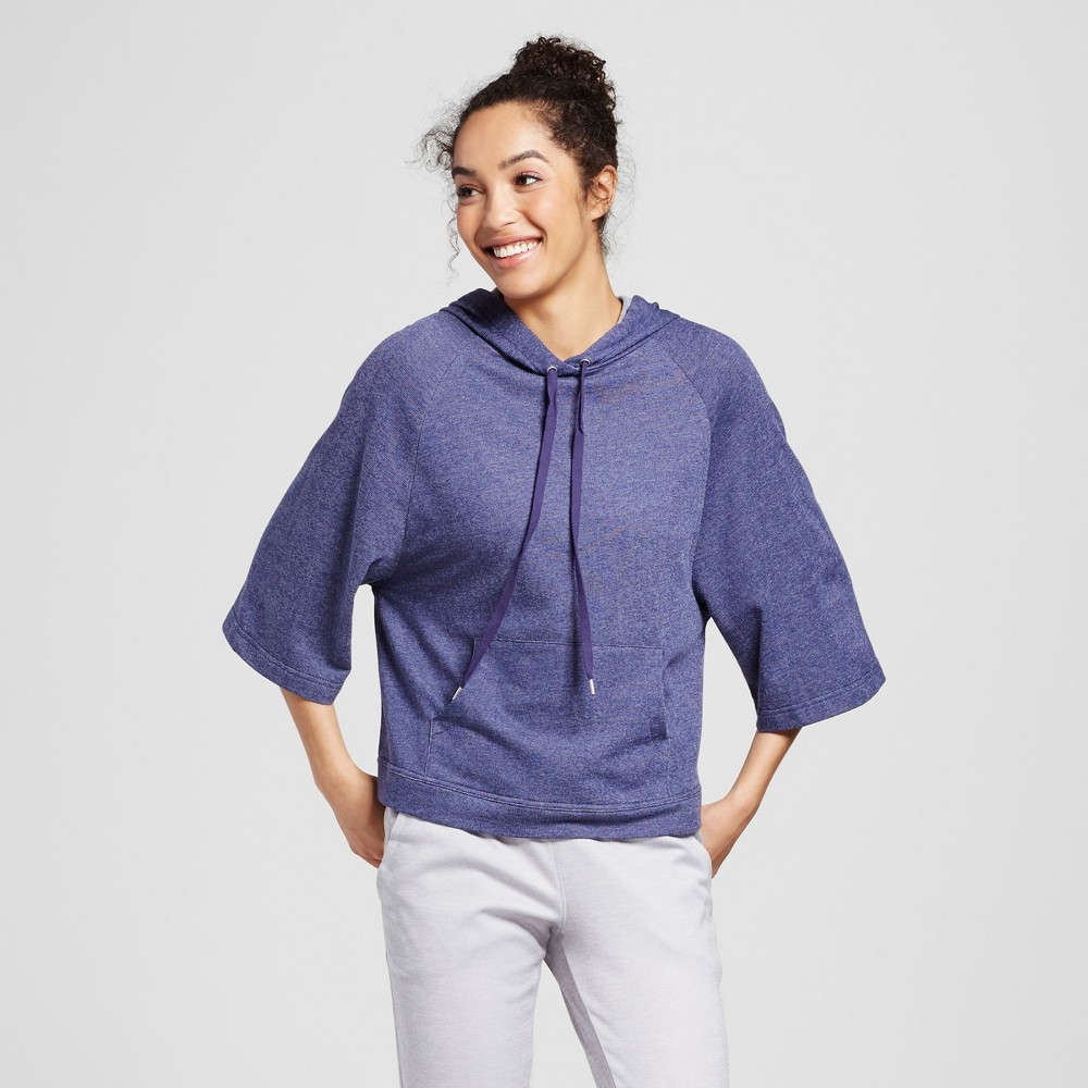 Women's French Terry Wide Sleeve Pullover Hoodie - Evolve by 2(X)Ist Denim Heather S, Blue