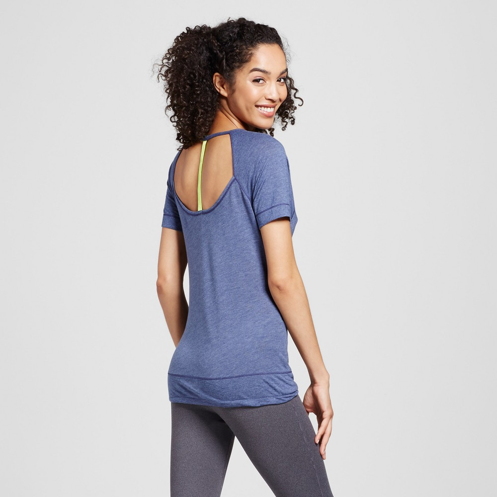 Women's Open T-Back Jersey T-Shirt - Evolve by 2(X)Ist Denim Heather M, Blue