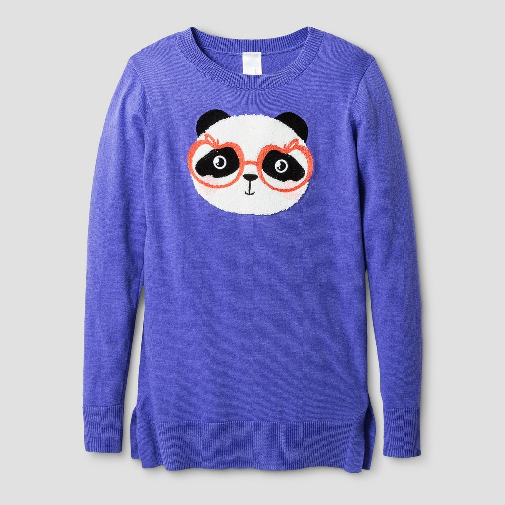 Girls' Icon Pullover - Cat & Jack Verily Iris M, Purple