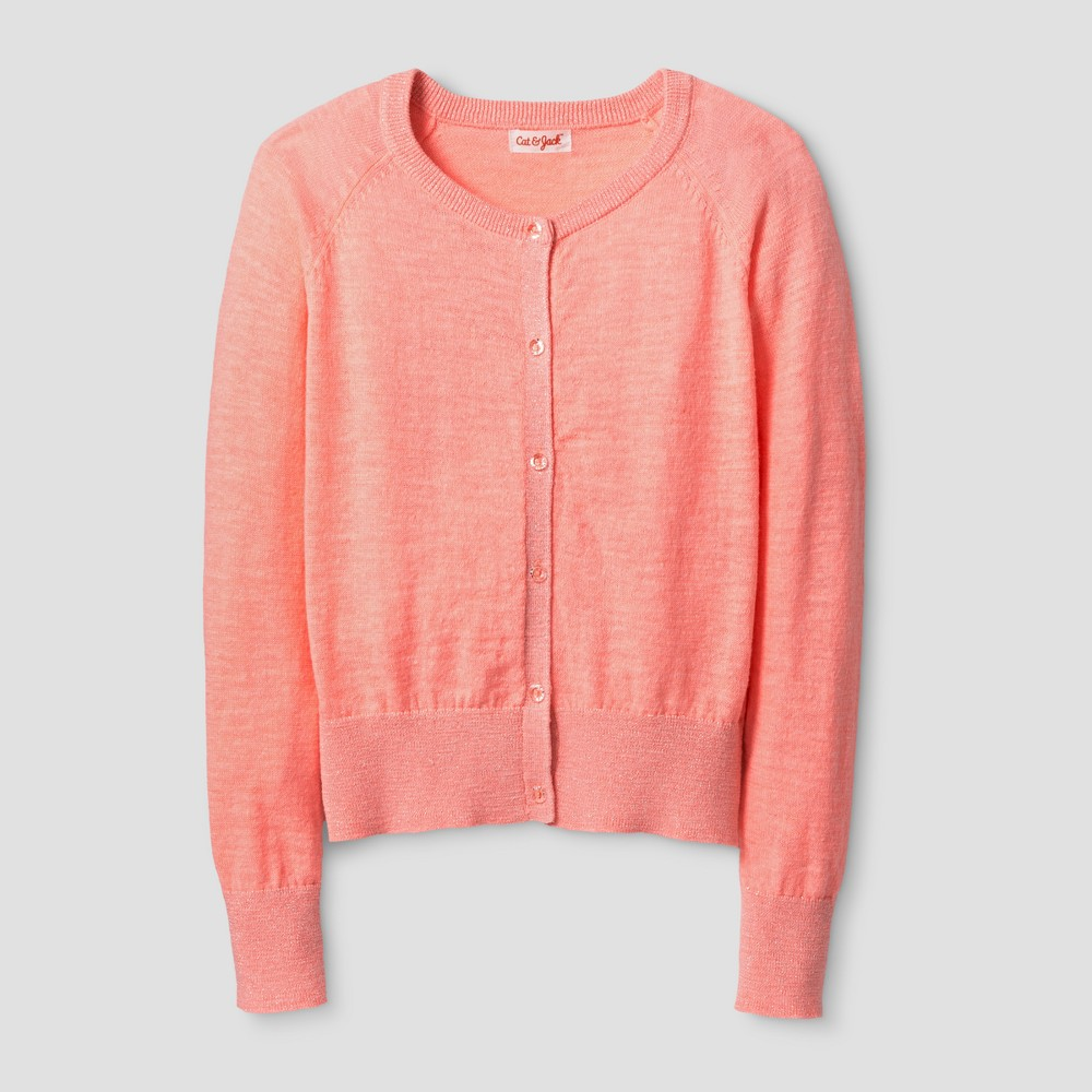 Girls Cardigan - Cat & Jack Moxie Peach XL, Orange
