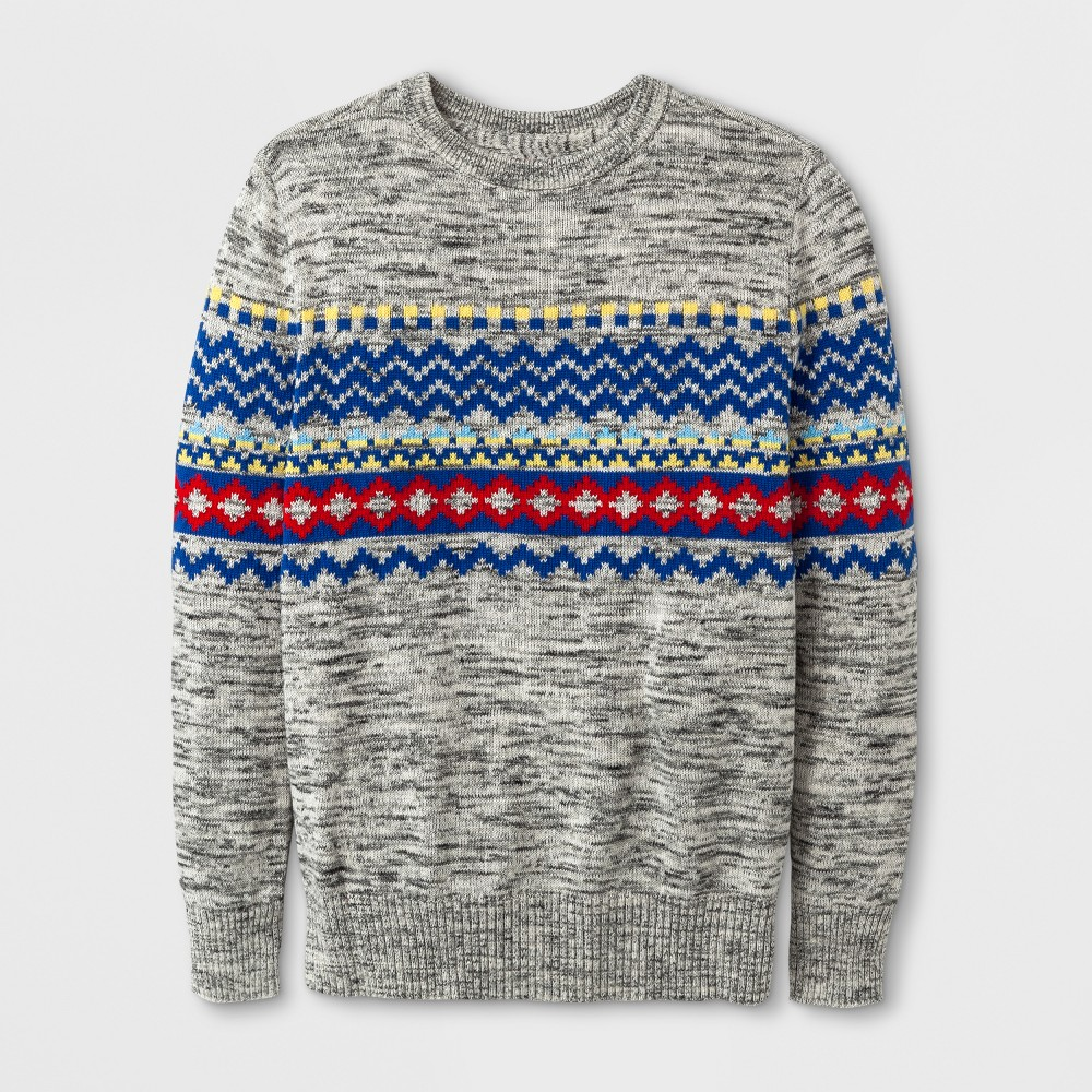 Boys Fairisle Pullover Sweater - Cat & Jack Gray XS