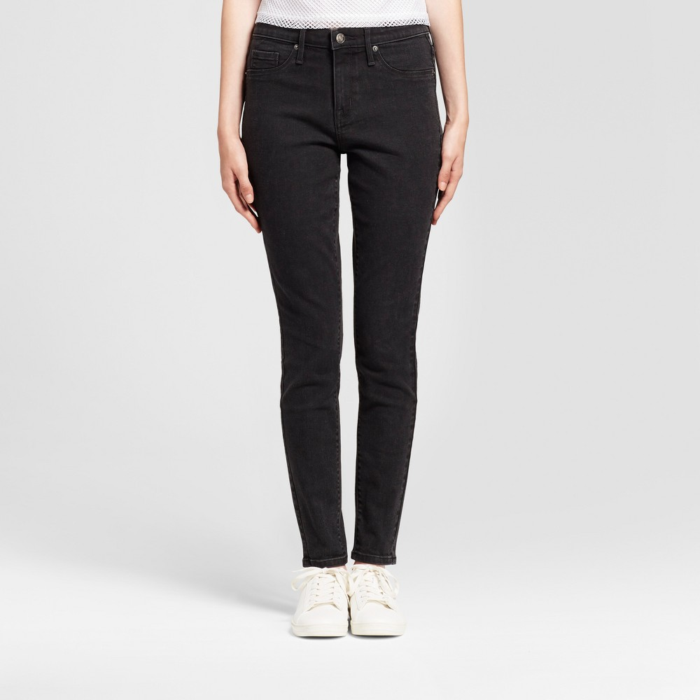 Womens Jeans Core High Rise Jeggings - Mossimo Black 16 Long