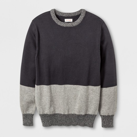 Boys' Colorblock Pullover Sweater - Cat & Jack™ Charcoal L : Target