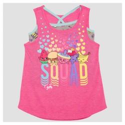 Girls' Shopkins Twofer Tank Top - Pink