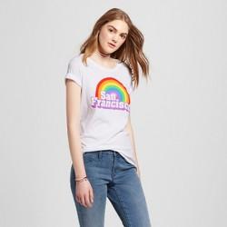 Women's San Francisco Rainbow T-Shirt - White (Juniors')