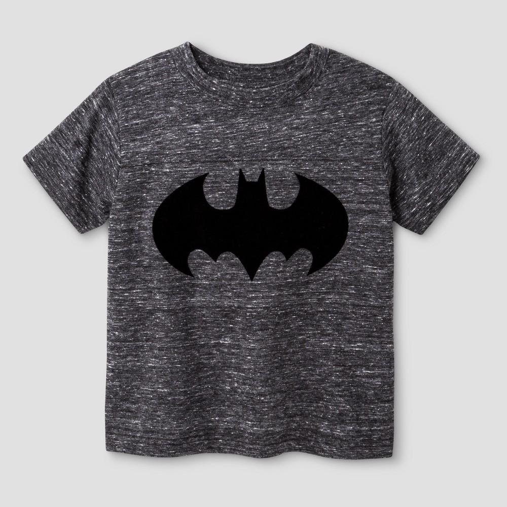 Toddler Boys Batman T-Shirt Gray - 12M, Size: 12 M