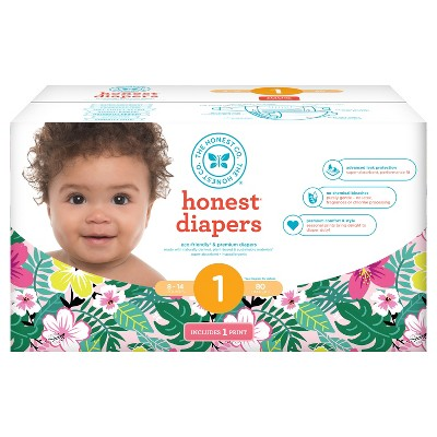 Honest Company Diapers Club Pack, Hibiscus - Size 1 (80 ct)