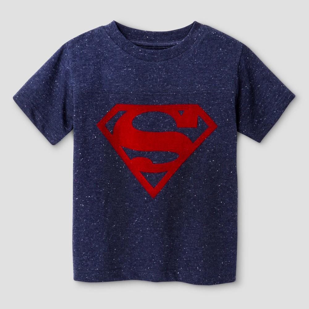 Toddler Boys Superman T-Shirt Navy - 12M, Size: 12 M, Blue