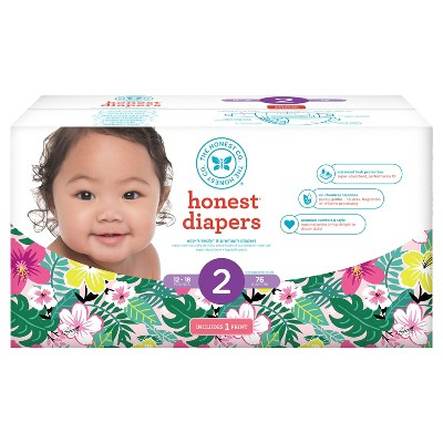 Honest Company Diapers Club Pack, Hibiscus - Size 2 (76 ct)