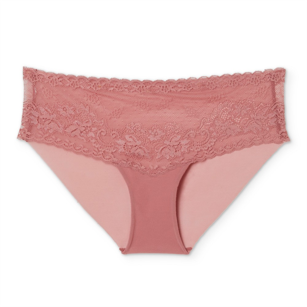 Womens Lace Cheeky - Holiday Rose XS