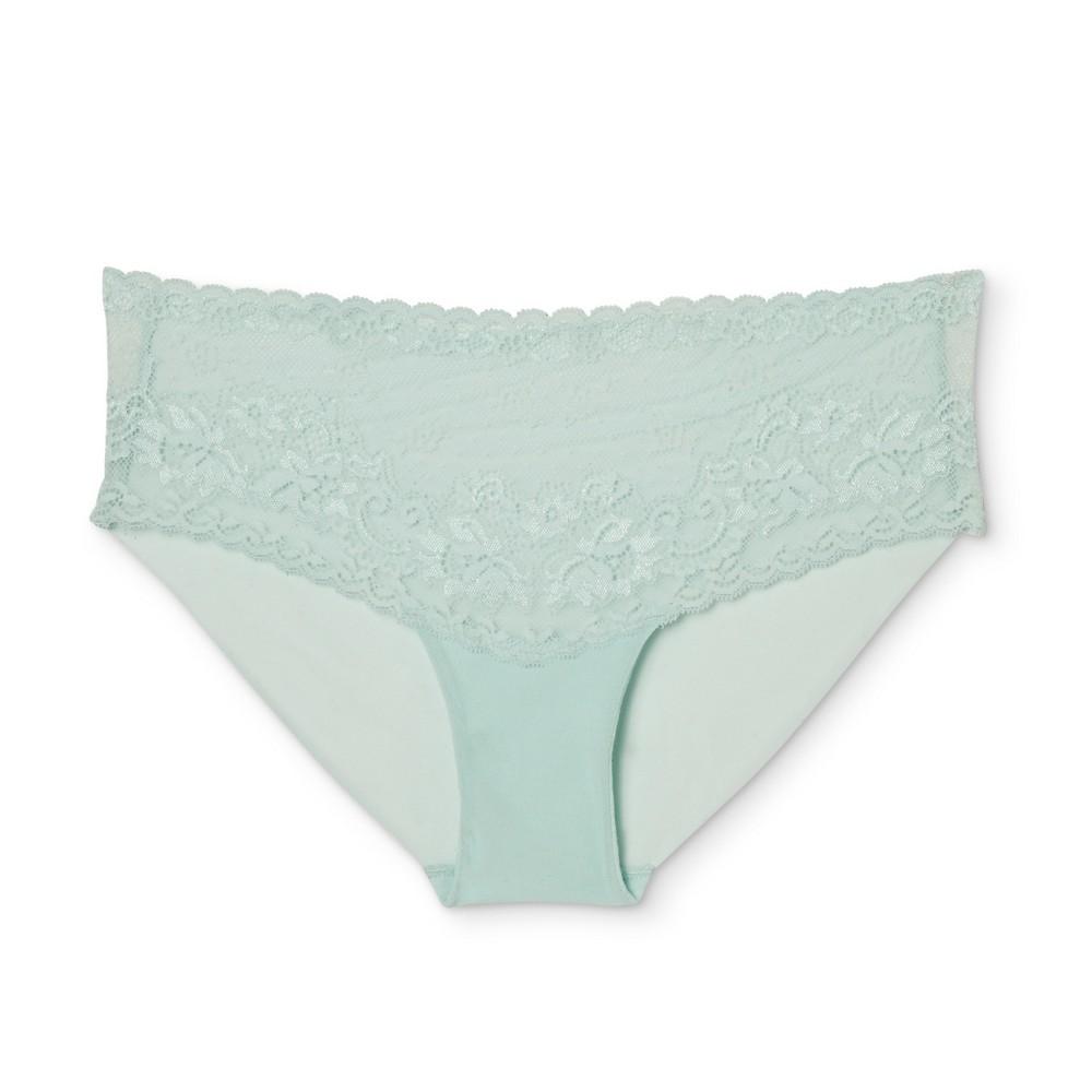 Womens Lace Cheeky - Misty Waterfall S