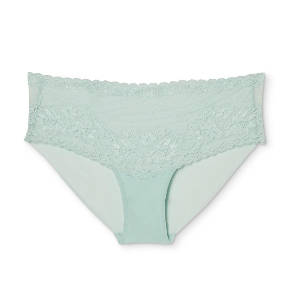 Womens Lace Cheeky - Misty Waterfall M