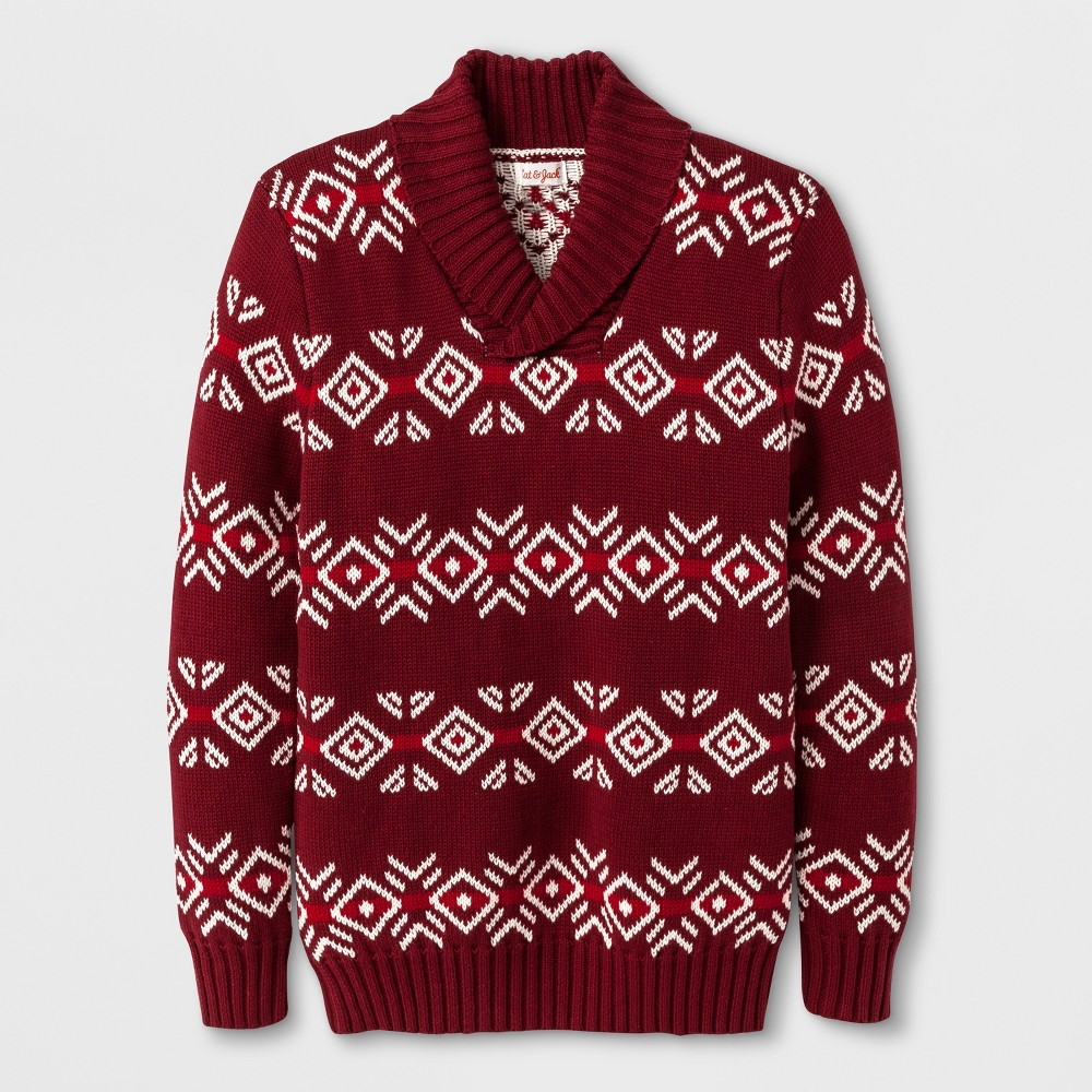 Boys Pullover Sweater - Cat & Jack Red M