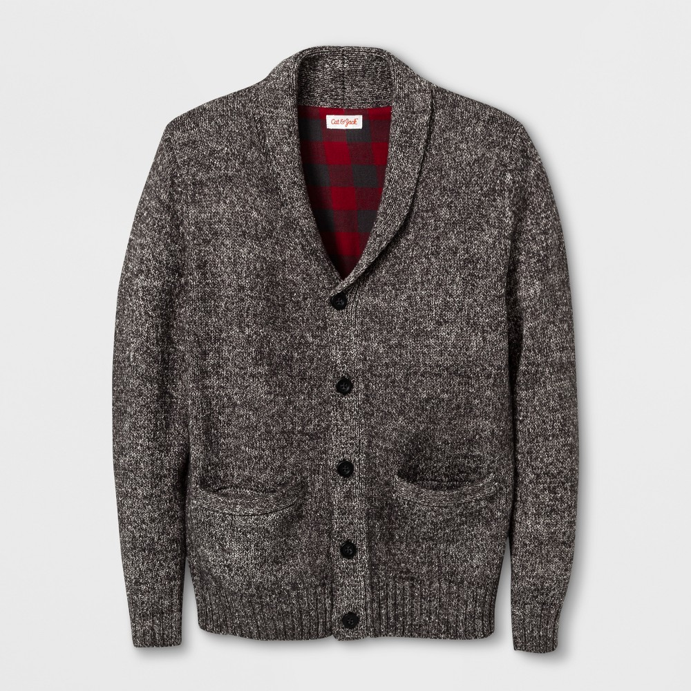 Boys Cardigan - Cat & Jack Charcoal S, Gray