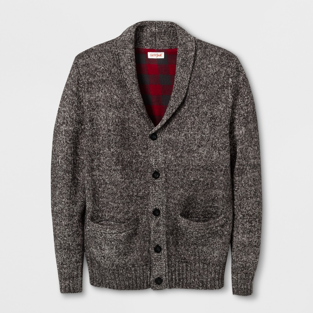 Boys Cardigan - Cat & Jack Charcoal M, Gray