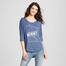 Women's Minneapolis Minny Heart Top - Navy (Juniors')