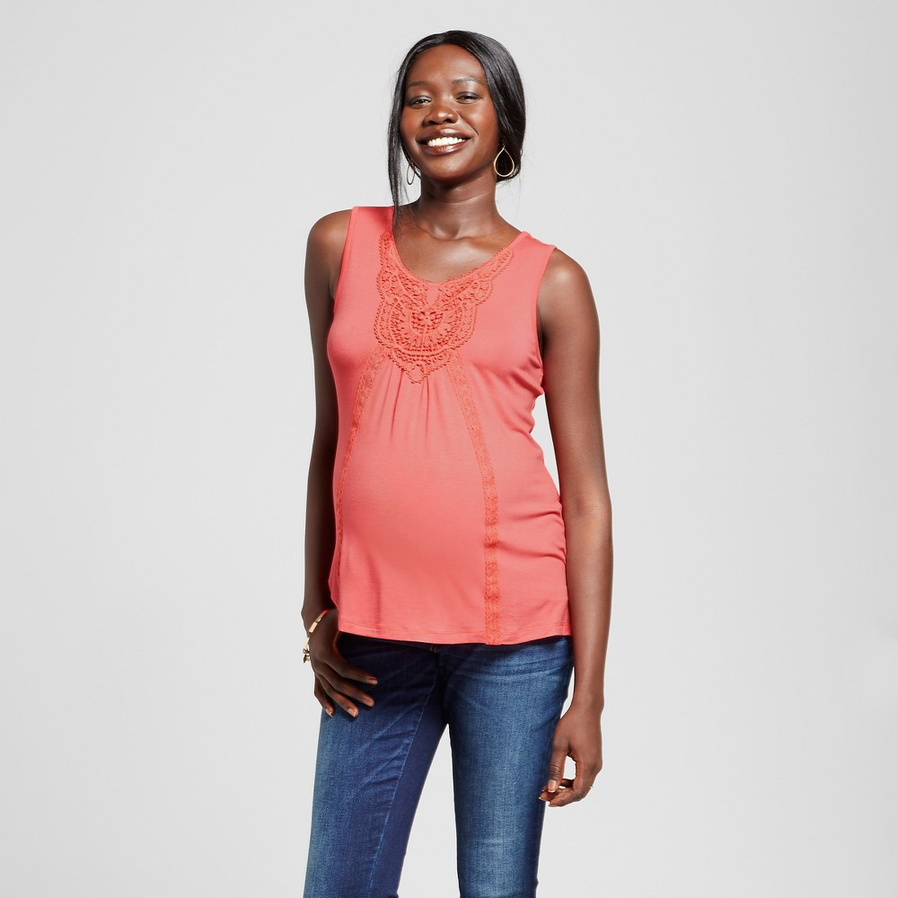 Maternity Crochet Tank Top Orange S – Ma Cherie Maternity, Infant Girl's, Pink