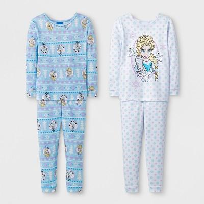 Toddler Girls' 4pc Disney® Frozen Elsa Pajama Set - White 2T